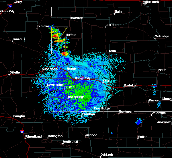 Radar Image for Severe Thunderstorms near Camp Crook, SD at 7/23/2020 2:55 PM MDT