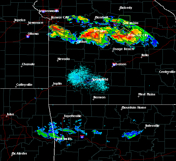 Radar Image for Severe Thunderstorms near Bagnell, MO at 7/1/2015 9:08 PM CDT