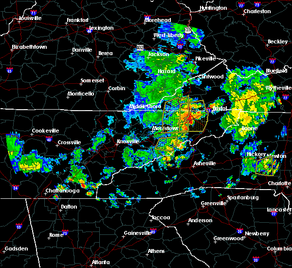 Radar Image for Severe Thunderstorms near Oak Grove, TN at 7/23/2020 5:19 PM EDT