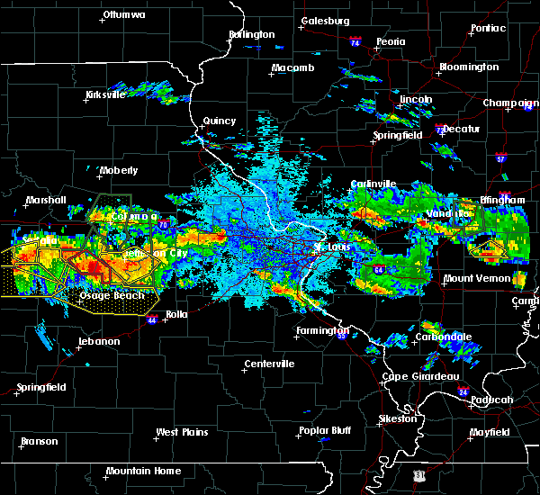 Radar Image for Severe Thunderstorms near Wardsville, MO at 7/1/2015 9:16 PM CDT