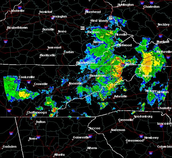 Radar Image for Severe Thunderstorms near Jonesborough, TN at 7/23/2020 5:49 PM EDT