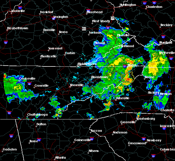 Radar Image for Severe Thunderstorms near Crossnore, NC at 7/23/2020 6:17 PM EDT