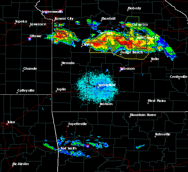 Radar Image for Severe Thunderstorms near Bagnell, MO at 7/1/2015 9:18 PM CDT