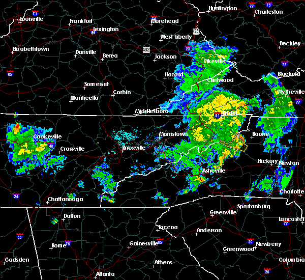 Radar Image for Severe Thunderstorms near Crossnore, NC at 7/23/2020 6:48 PM EDT