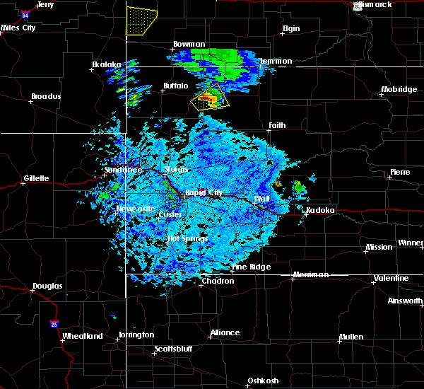 Radar Image for Severe Thunderstorms near Bison, SD at 7/23/2020 5:16 PM MDT