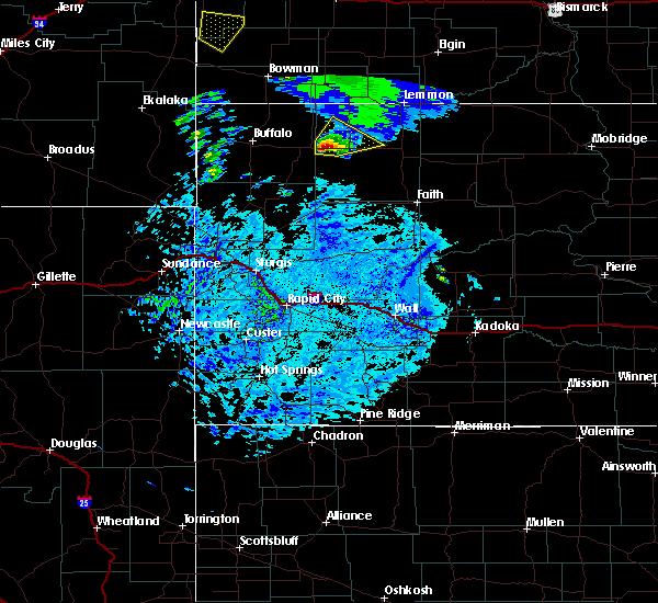 Radar Image for Severe Thunderstorms near Bison, SD at 7/23/2020 5:27 PM MDT