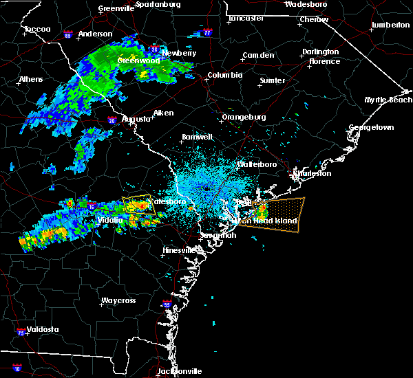 Radar Image for Severe Thunderstorms near Guyton, GA at 7/1/2015 10:35 PM EDT