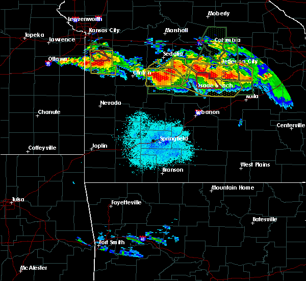Radar Image for Severe Thunderstorms near Bagnell, MO at 7/1/2015 9:36 PM CDT