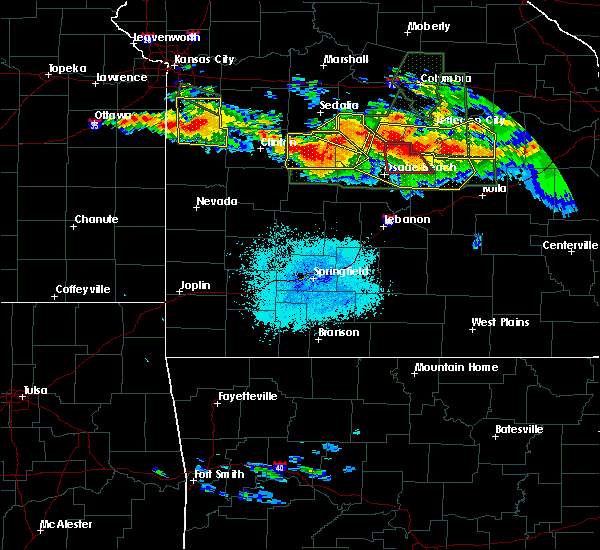 Radar Image for Severe Thunderstorms near Village of Four Seasons, MO at 7/1/2015 9:39 PM CDT