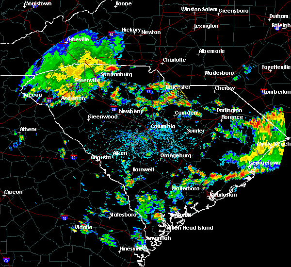 Radar Image for Severe Thunderstorms near Kershaw, SC at 7/24/2020 3:32 PM EDT
