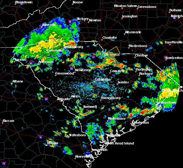 Radar Image for Severe Thunderstorms near Kershaw, SC at 7/24/2020 3:52 PM EDT
