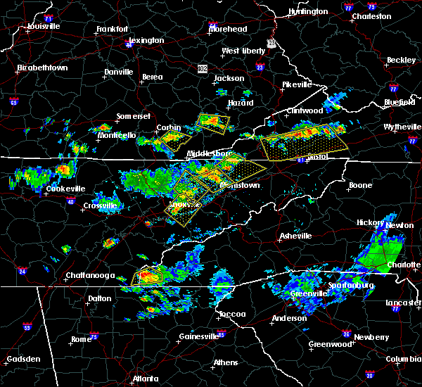 Radar Image for Severe Thunderstorms near Tellico Plains, TN at 7/24/2020 5:29 PM EDT