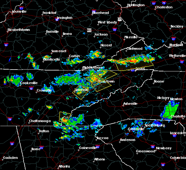 Radar Image for Severe Thunderstorms near Morristown, TN at 7/24/2020 5:38 PM EDT