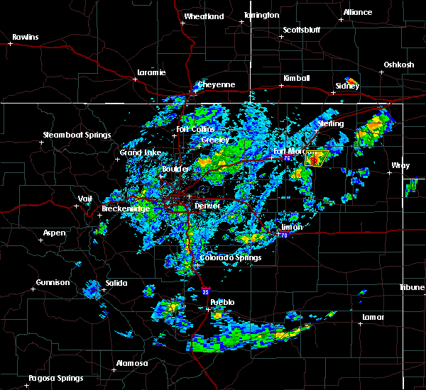 Radar Image for Severe Thunderstorms near Akron, CO at 7/24/2020 3:54 PM MDT