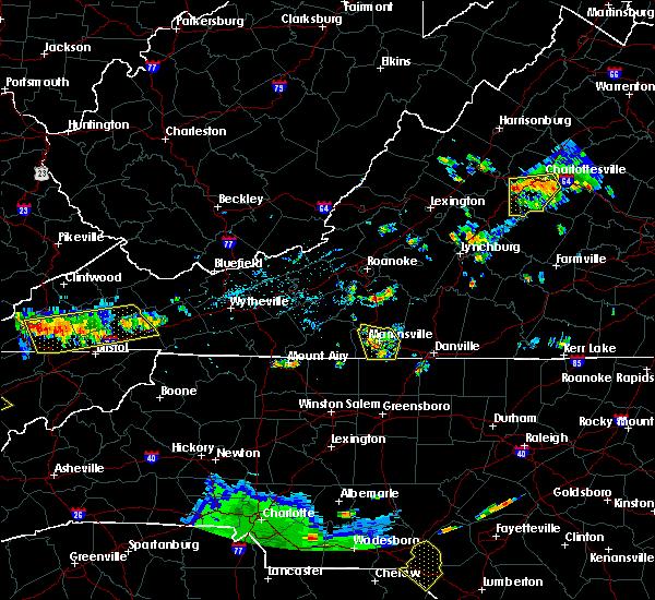 Radar Image for Severe Thunderstorms near Chatmoss, VA at 7/24/2020 6:06 PM EDT