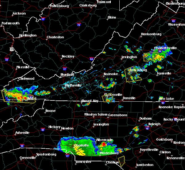 Radar Image for Severe Thunderstorms near Chatmoss, VA at 7/24/2020 6:35 PM EDT