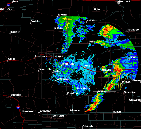 Radar Image for Severe Thunderstorms near Mission, SD at 7/24/2020 5:47 PM CDT