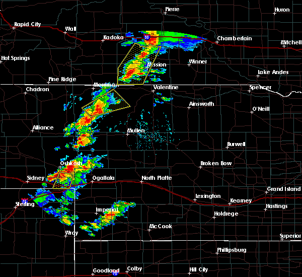 Radar Image for Severe Thunderstorms near Mission, SD at 7/24/2020 6:16 PM CDT