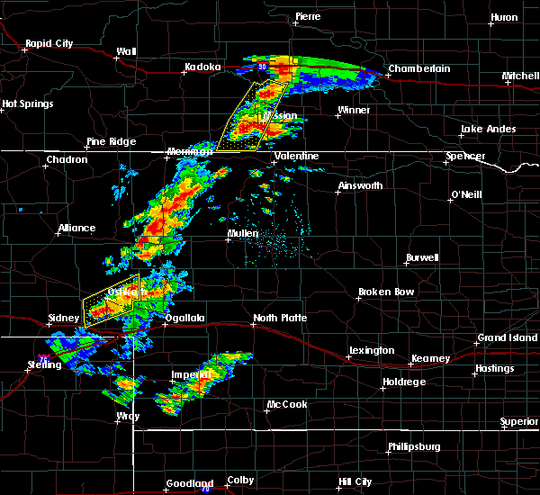 Radar Image for Severe Thunderstorms near Mission, SD at 7/24/2020 6:30 PM CDT