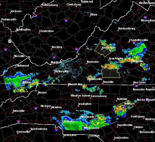 Radar Image for Severe Thunderstorms near Sandy Level, VA at 7/24/2020 7:43 PM EDT