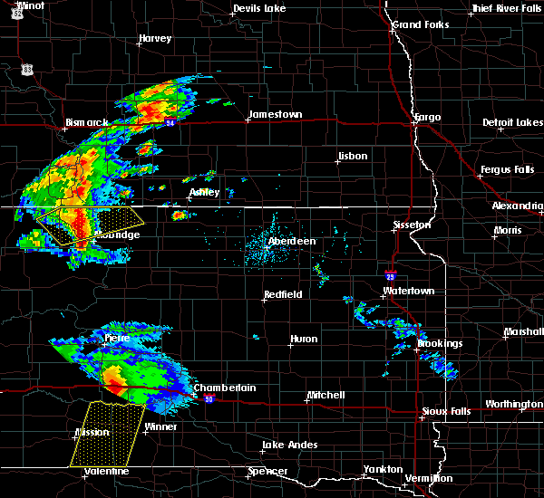 Radar Image for Severe Thunderstorms near Vivian, SD at 7/24/2020 6:56 PM CDT