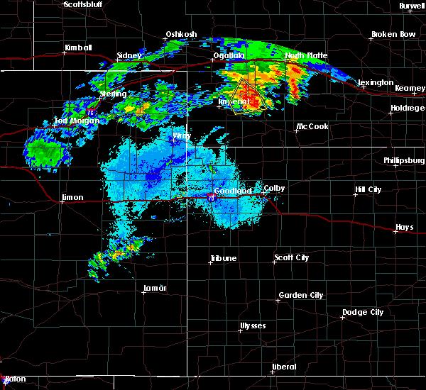 Radar Image for Severe Thunderstorms near Hayes Center, NE at 7/24/2020 10:40 PM CDT