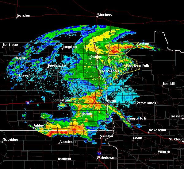 Radar Image for Severe Thunderstorms near Goodridge, MN at 7/24/2020 11:38 PM CDT