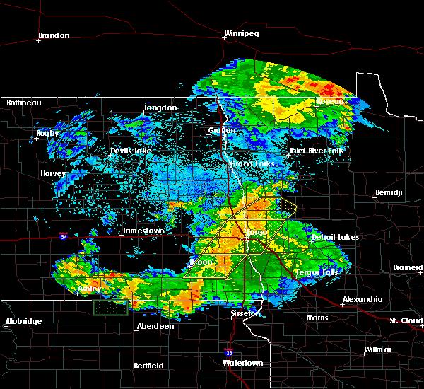 Radar Image for Severe Thunderstorms near Mapleton, ND at 7/25/2020 12:34 AM CDT