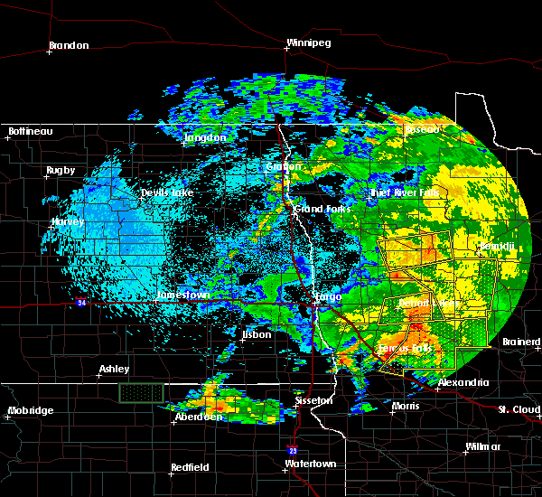 Radar Image for Severe Thunderstorms near Twin Lakes, MN at 7/25/2020 3:17 AM CDT
