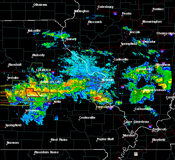 Radar Image for Severe Thunderstorms near St. James, MO at 7/1/2015 10:05 PM CDT