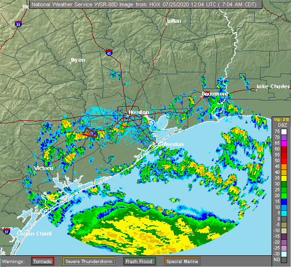Radar Image for Severe Thunderstorms near East Bernard, TX at 7/25/2020 7:09 AM CDT