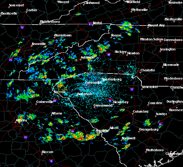 Radar Image for Severe Thunderstorms near Westminster, SC at 7/25/2020 1:21 PM EDT