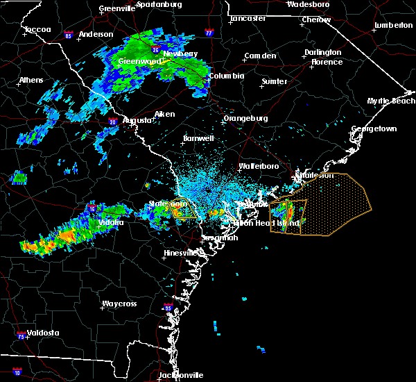 Radar Image for Severe Thunderstorms near Yemassee, SC at 7/1/2015 11:04 PM EDT