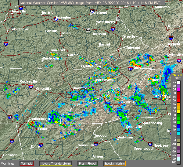 Radar Image for Severe Thunderstorms near Morganton, GA at 7/25/2020 4:24 PM EDT