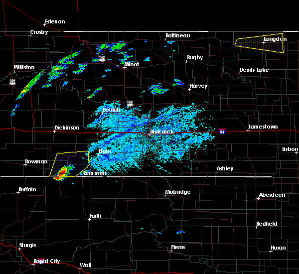 Radar Image for Severe Thunderstorms near Bucyrus, ND at 7/25/2020 3:09 PM MDT