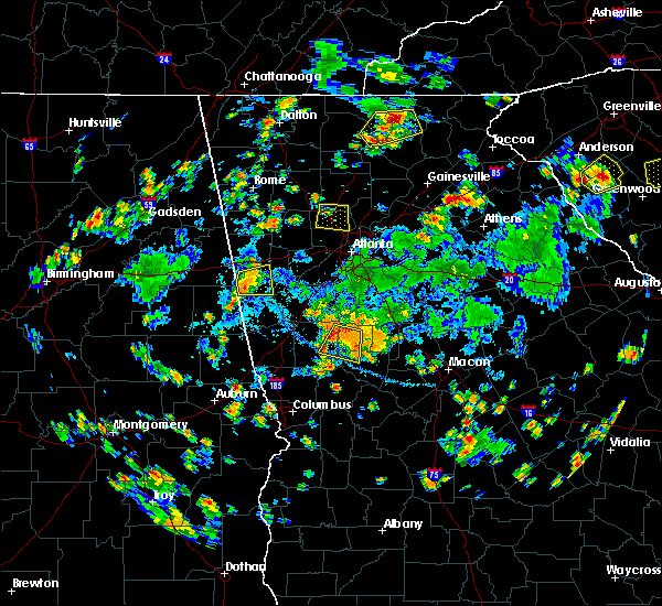 Radar Image for Severe Thunderstorms near Concord, GA at 7/25/2020 5:16 PM EDT