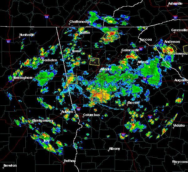 Radar Image for Severe Thunderstorms near Molena, GA at 7/25/2020 5:16 PM EDT