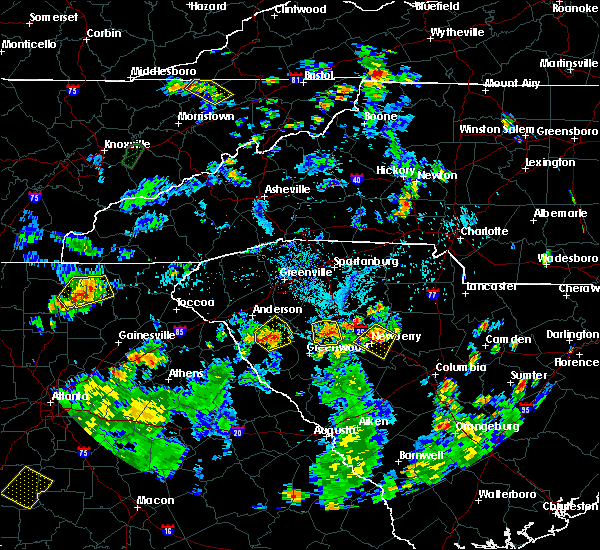 Radar Image for Severe Thunderstorms near Lake Secession, SC at 7/25/2020 5:29 PM EDT