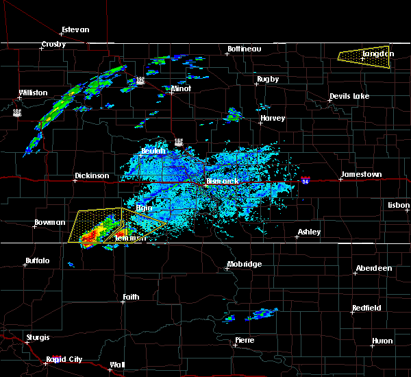 Radar Image for Severe Thunderstorms near Haynes, ND at 7/25/2020 3:31 PM MDT
