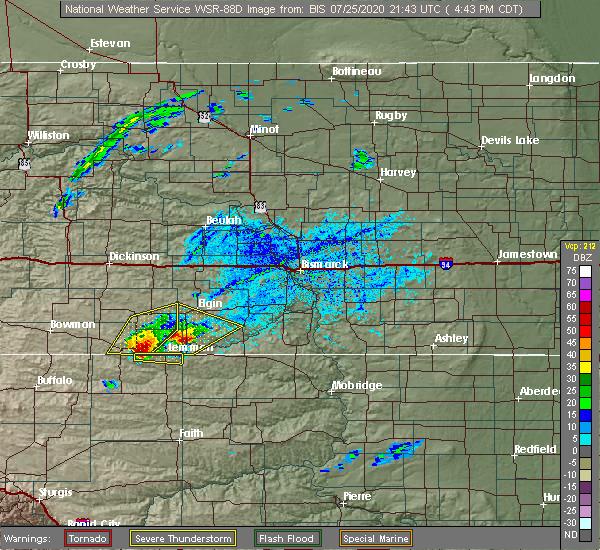 Radar Image for Severe Thunderstorms near Lemmon, SD at 7/25/2020 3:46 PM MDT