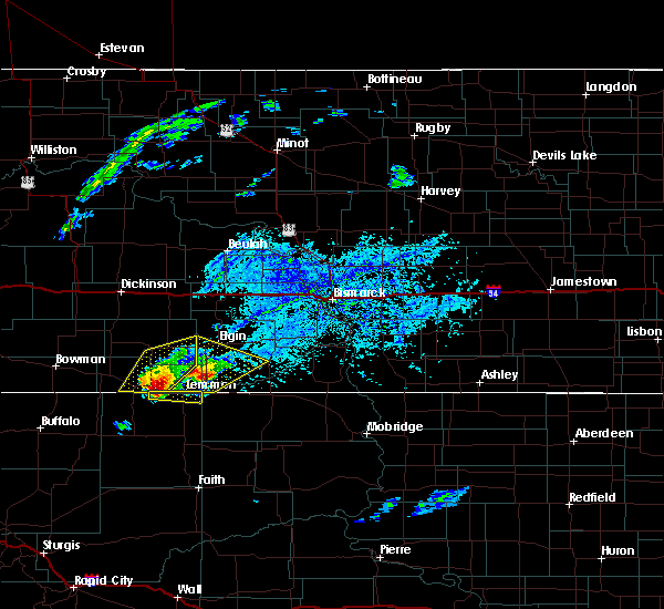 Radar Image for Severe Thunderstorms near Haynes, ND at 7/25/2020 3:48 PM MDT