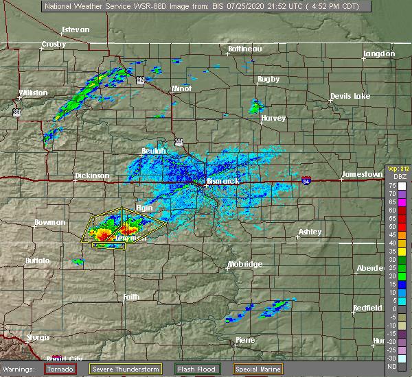 Radar Image for Severe Thunderstorms near Lemmon, SD at 7/25/2020 3:57 PM MDT