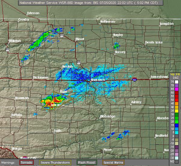 Radar Image for Severe Thunderstorms near Lemmon, SD at 7/25/2020 4:06 PM MDT