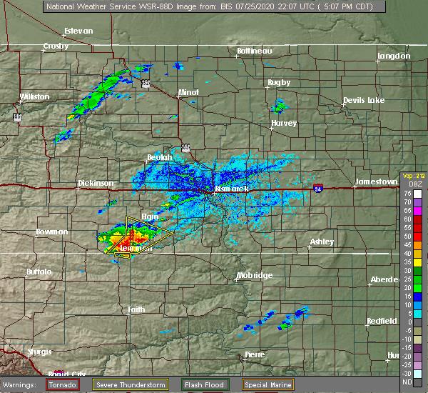 Radar Image for Severe Thunderstorms near Lemmon, SD at 7/25/2020 4:10 PM MDT