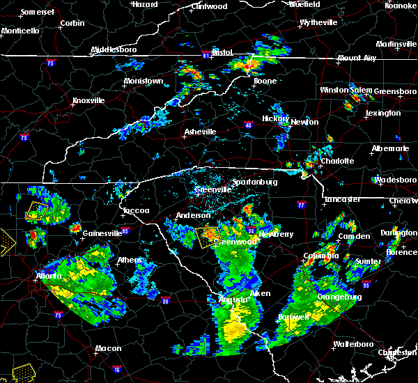 Radar Image for Severe Thunderstorms near Cokesbury, SC at 7/25/2020 6:14 PM EDT