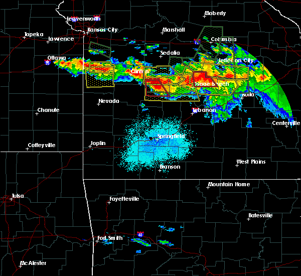 Radar Image for Severe Thunderstorms near Warsaw, MO at 7/1/2015 10:11 PM CDT