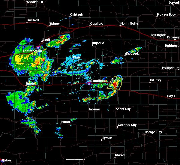 Radar Image for Severe Thunderstorms near Rexford, KS at 7/25/2020 5:40 PM CDT