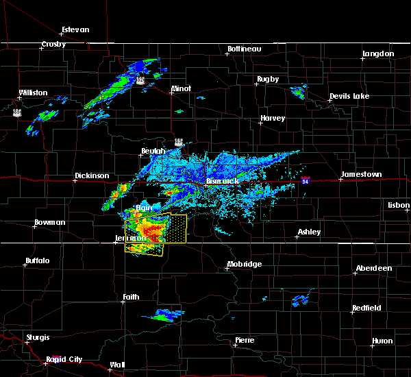 Radar Image for Severe Thunderstorms near McIntosh, SD at 7/25/2020 4:48 PM MDT