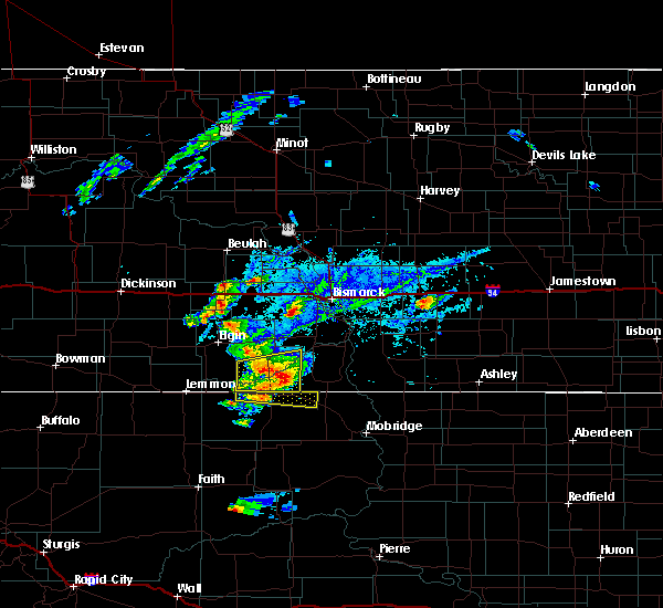 Radar Image for Severe Thunderstorms near Fort Yates, ND at 7/25/2020 6:18 PM CDT