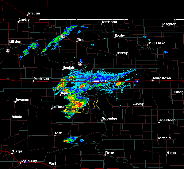 Radar Image for Severe Thunderstorms near McIntosh, SD at 7/25/2020 5:22 PM MDT